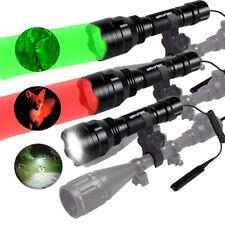 Tactical 500Yards LED Flashlight Predator Varmint Hog Hunting Light hunting Lamp