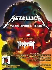 "METALLICA / KVELERTAK ""WORLDWIRED TOUR"" 2017 FRANCE CONCERT POSTER - Heavy Metal"