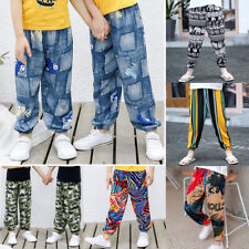 Kids Girls Boys Summer Harem Hippie Ali Baba Trousers Yoga Pants Bottoms Age2-12