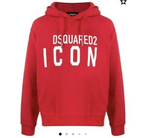 Boys Designer Red Hoodie Sweatshirt By Dsquared 2 Icon Age 14 Years