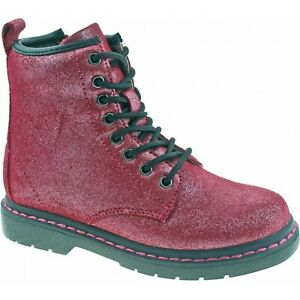 LELLI KELLY ANGIE GIRLS JUNIOR YOUTH BURGUNDY BLACK LACE CHILDRENS ANKLE BOOT