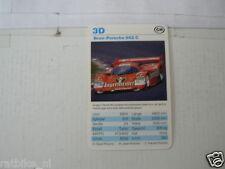 53-RACING CARS 3D BRUN-PORSCHE 962 C   KWARTET KAART,CARD
