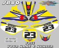 suzuki jr80 decals graphics jr 80 full kit laminated stickers motocross mx blue