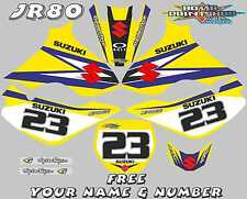 suzuki jr80 decals graphics jr 80 full kit laminated stickers motocross mx blue