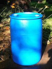 "PLASTIC BARREL 55 GALLON HDPE - Blue Or White -FOOD  GRADE"" Closed Top Barrel-"
