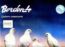 LP - Bordon 4 - Quiero Conocerte (Flamenco, Rumba, Spain) NUEVO, OYELO * LISTEN