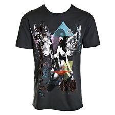 Men's amplificato PECCATORE 69 T Shirt Grigio Antracite Taglia S Small