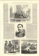 1874 Captain Sartorius Ashanti Expedition Blind Beggar Cape Coast