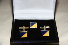 RLC TRF Military Cufflink and lapel pin set boxed ARMY