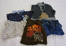 Lot of 5 Baby Boys 6-9 mo Kids Clothes 2 Pants 2 Shirts 1 one piece