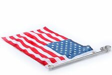 "Stainless Steel boat flag pole with US flag Rail Mount Pulpit Staff (7/8""-11/4"")"