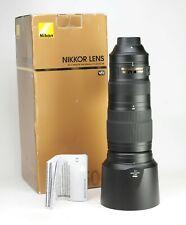 Nikon AF-S 200-500mm F5.6 E VR ED AF Telephoto Lens + Caps + Hood + Box + EXC