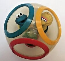 Vintage Illco Sesame Street Weeble Wobble Roly Poly Set Ball Big Bird Oscar