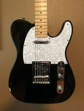 Fender Telecaster guitar in Black & Pearloid White with Maple Neck