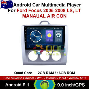 "9"" Android 9.1 Quad Core Car Non DVD GPS For Ford Focus 2005-2008 LS, LT"