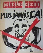 CHARLIE HEBDO No 177 AVRIL 1974 GEBE PLUS JAMAIS CA !
