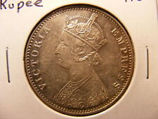India, British, 1901 Silver 1 Rupee, KM#492, AU