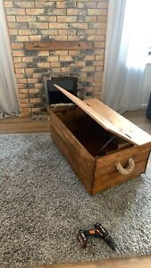 Wooden Storage Chest, Blanket Box, Coffee Table
