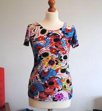 Unbranded Polyester Short Sleeve Skull T-Shirts for Women