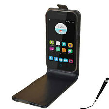 Black Leather Flip Card wallet Case Cover Boost Zume 5 4G / ZTE B112 + Stylus