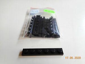 10x Lego 36606 Basis-Platte 1x6 schwarz