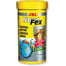 JBL NovoFex Tubifex Worm Cubes Novo Fex Popular Treats for Fish & Shrimp 100ml