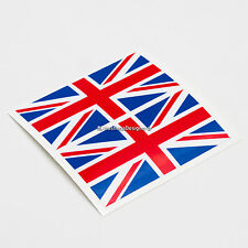 2x UK Bandera británica Union Jack Laminado coche, ventana, Parachoques Vinilo Calcomanía Pegatinas