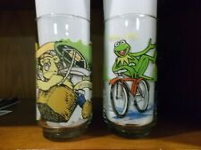 VINTAGE MCDONALD'S THE GREAT MUPPET CAPER GLASSES 1981 KERMIT THE FROG GONZO