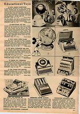 1955 ADVERTISEMENT Spitz Junior Planetarium Sky Zoo Walt Disnay Globe Toy