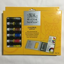 Winsor & Newton Galeria Acrylic Tips and Techniques Art Painting Set 8 pc
