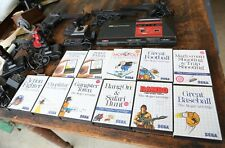 Sega Master System Console with 11 Video Games Vintage Rambo Action Fighter