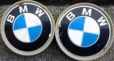 2 GENUINE BMW  CENTRE CAPS FOR  ALLOY WHEEL (L # 43)