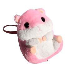 Kawaii Rosa Bolsa Mochila de Peluche Hamster Lindo Japón jfashion Lolita Pastel Kei