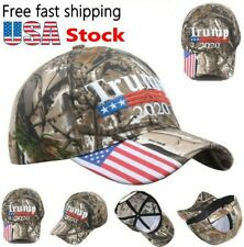 Donald Trump 2020 Cap USA Flag Camouflage Baseball Cap Hat Keep Make Great US **