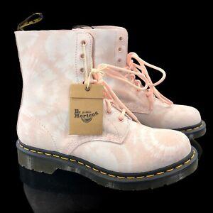 Rare Dr. Martens 1460 Pascal Women's Size 8 US Pink Tie Dye Burst Ankle Boots