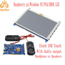 Raspberry Pi 5inch LCD  USB Resistive Touch screen for computer PC XBOX PS4