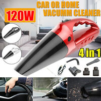 120W 4 IN 1 Portable Cordless Home Car Vacuum Cleaner Wet Dry Handheld Duster