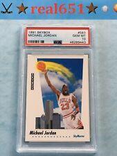1991 Skybox Skymaster #583 MICHAEL JORDAN | Perfect PSA 10 Gem Mint | Bulls HOF