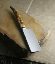 J3 Custom Razors Hand Made Kamisori (8/8 Straight Edge Rattan Square Tip)