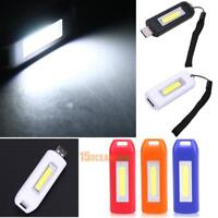 Mini Rechargeable Torch USB LED Light Outdoor Flashlight Lamp Pocket Keychain