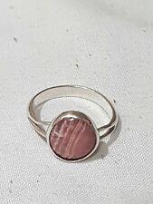 Stunning vintage Silver & Blue John dress ring. Rare Pink