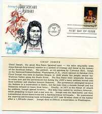 1364 American Indian Chief Joseph Cover Craft Cachets, CCC, FDC