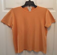 Jones New York Sport Women's Classic Top Blouse, Size X-Large, Peach, 100% Cott