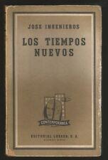 Jose Ingenieros Book Los Tiempos Nuevos 1ºEd 1961 Losada
