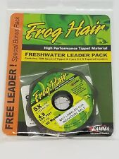 Frog Hair Tippet 30m And 9 1/2ft Leader Stiff Butt Value Pack | 3X