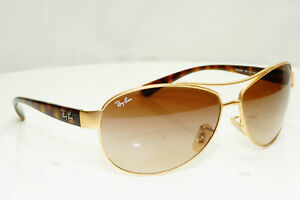 Authentic Ray-Ban Mens Vintage Sunglasses Gold RB 3386 001/13 33081