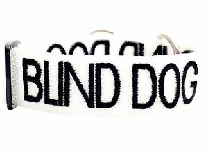 Collar Color Coded BLIND DOG Warning Assistance Safe Walking Heavy Duty Strong