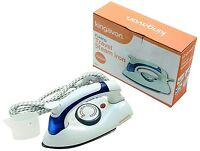 Foldable Glide Small Compact Steam Travel Iron Dual Voltage Easy Fold Non-Stick