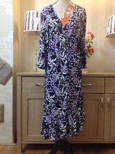 M&CO frondoso Hoja Strachey urdimbre Vestido Talla 16 condición muy hermosa (VCR)