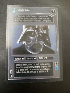 Star wars CCG swccg Darth Vader Premiere Black Bordered